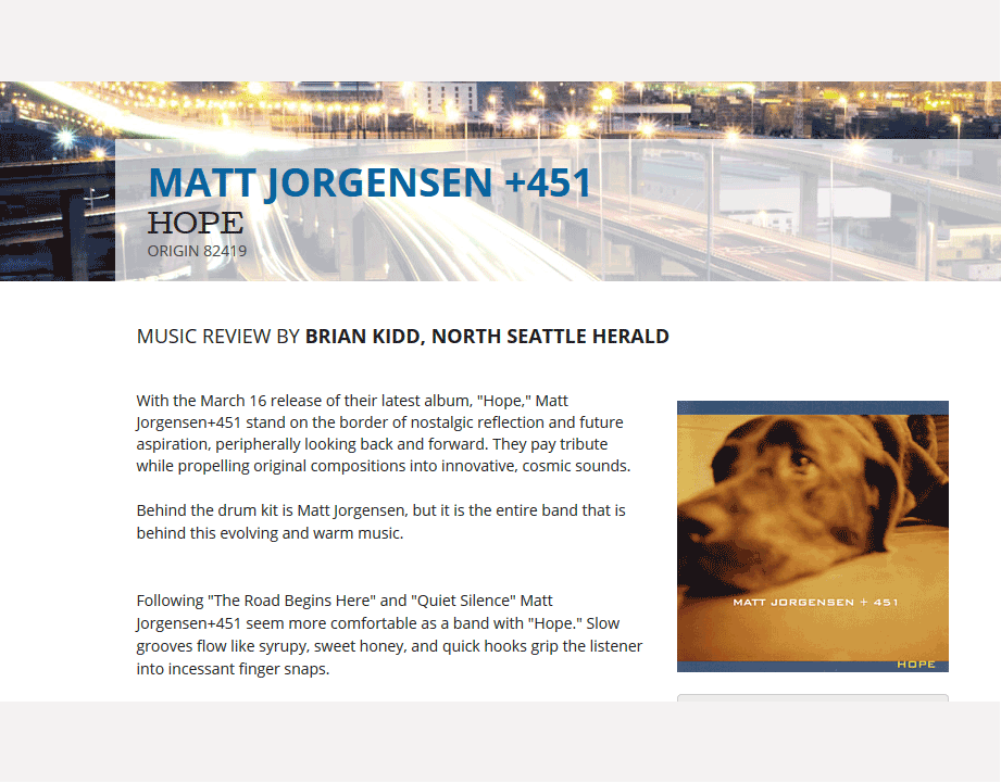 matt jorgensen, Hope